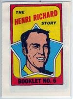 1971-72 O-Pee-Chee/Topps Booklets #6 Henri Richard