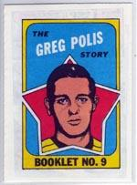 1971-72 O-Pee-Chee/Topps Booklets #9 Greg Polis