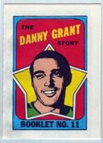 1971-72 O-Pee-Chee/Topps Booklets #11 Danny Grant