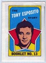 1971-72 O-Pee-Chee/Topps Booklets #13 Tony Esposito