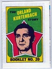 1971-72 O-Pee-Chee/Topps Booklets #20 Orland Kurtenbach