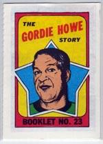 1971-72 O-Pee-Chee/Topps Booklets #23 Gordie Howe