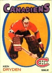 1971-72 Canadiens Postcards #5 Ken Dryden