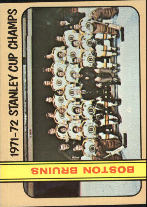 1972-73 Topps #1 World Champions DP/Boston Bruins Team