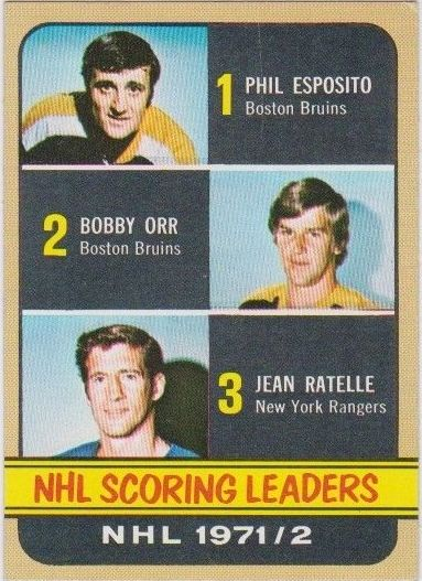 1972-73 Topps #63 Scoring Leaders DP/Phil Esposito/Bobby Orr/Jean Ratelle