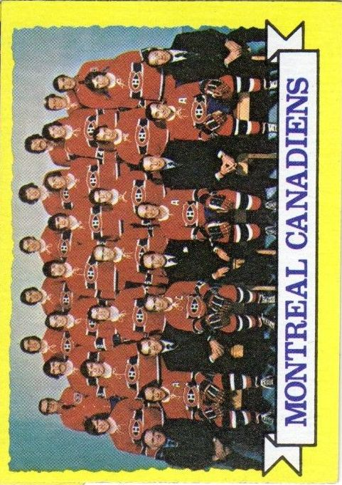 1973-74 Topps #100 Canadiens Team