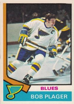 1974-75 O-Pee-Chee #107 Bob Plager UER/(Photo actually/Barclay Plager)