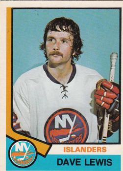 1974-75 O-Pee-Chee #324 Dave Lewis RC