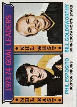 1974-75 Topps #1 Goal Leaders/Phil Esposito/Bill Goldsworthy