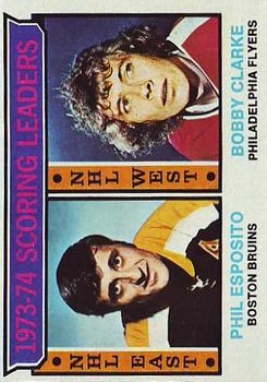 1974-75 Topps #3 Scoring Leaders/Phil Esposito/Bobby Clarke