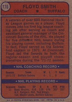 1974-75 Topps #176 Floyd Smith CO back image