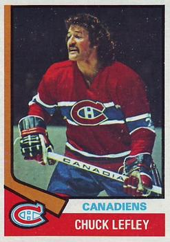 1974-75 Topps #178 Chuck Lefley UER/(Photo actually/Pierre Bouchard
