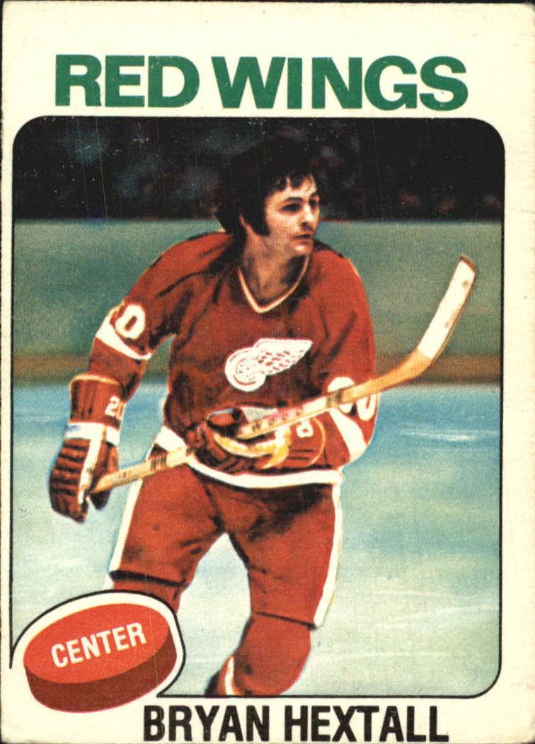 1975-76 O-Pee-Chee #26A Bryan Hextall/(No mention of trade)
