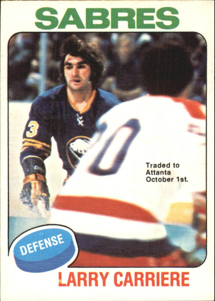 1975-76 O-Pee-Chee #154 Larry Carriere