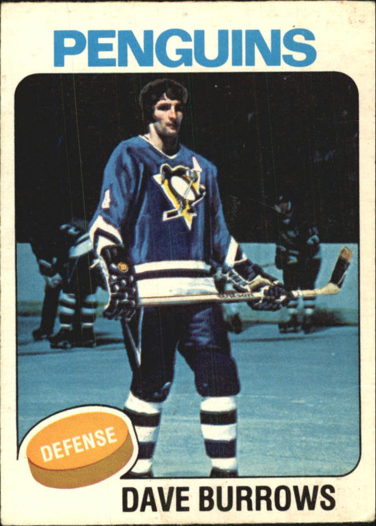 1975-76 O-Pee-Chee #186 Dave Burrows