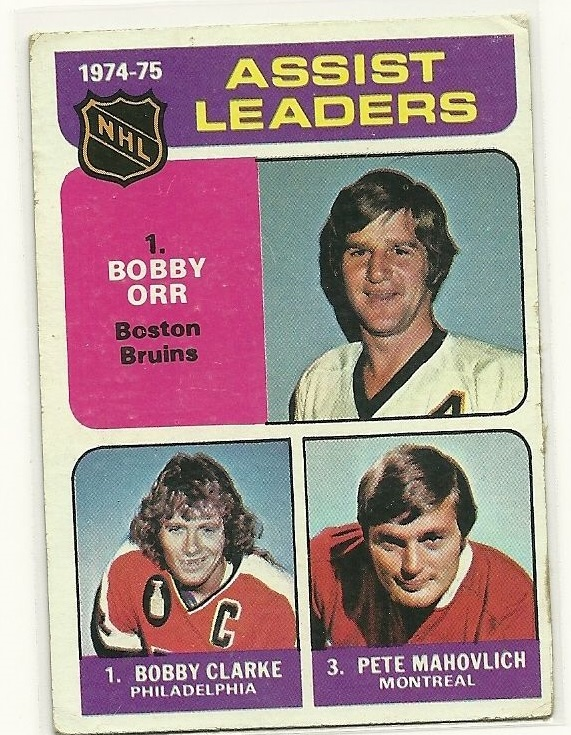 1975-76 O-Pee-Chee #209 Assists Leaders/Bobby Clarke/Bobby Orr/Pete Mahovlich