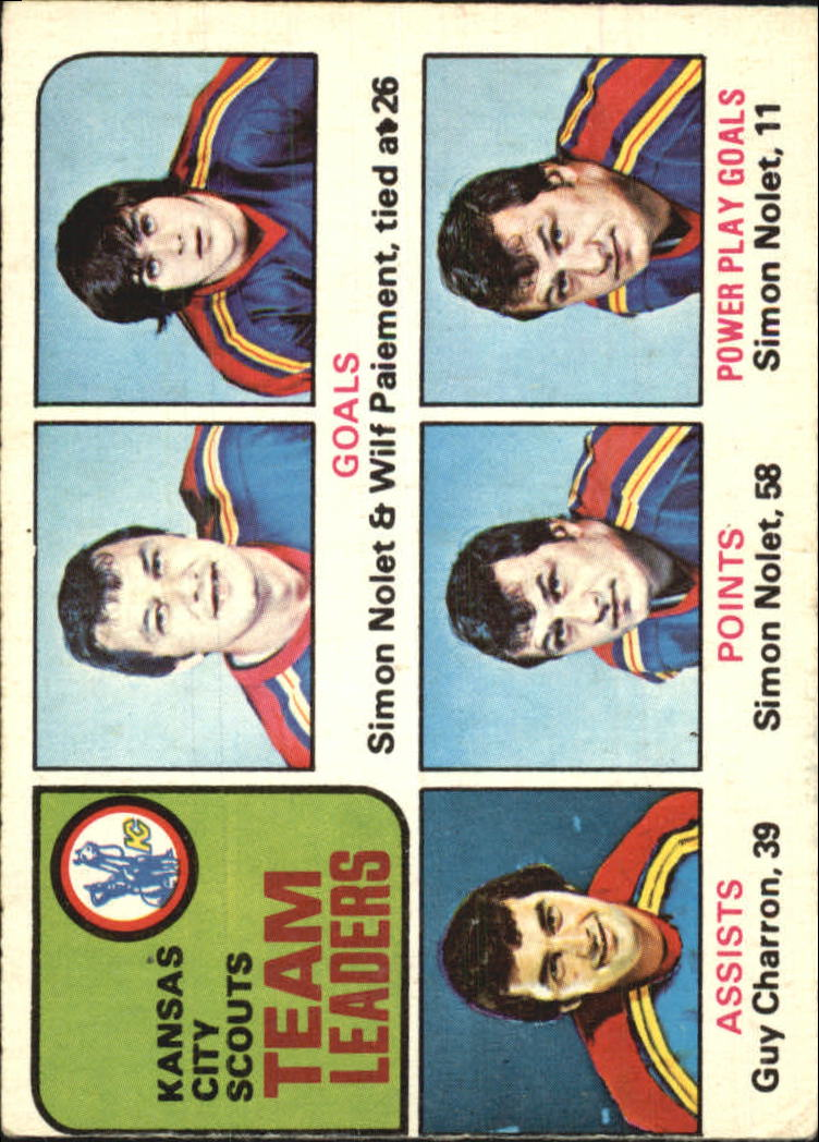 1975-76 O-Pee-Chee #319 Scouts Leaders/Simon Nolet/Wilf Paiement/Guy Charron