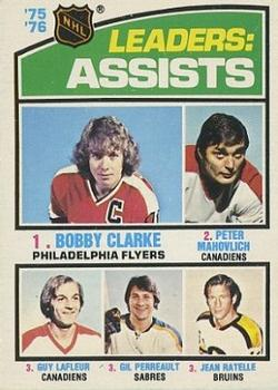 1976-77 Topps #2 Assists Leaders/Bobby Clarke/Peter Mahovlich/Guy Lafleur/Gilbert Perrault/Jean Ratelle