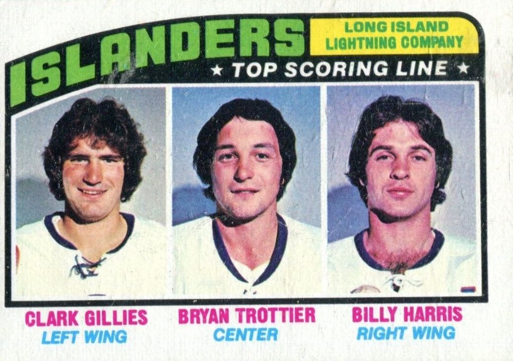 1976-77 Topps #216 Long Island Lightning/Clark Gillies/Bryan Trottier/Billy Harris