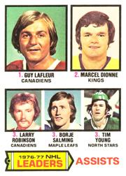 1977-78 O-Pee-Chee #2 Assists Leaders/Guy Lafleur/Marcel Dionne/Larry Robinson/Borje Salming/Tim Young