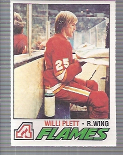 1977-78 O-Pee-Chee #17 Willi Plett RC