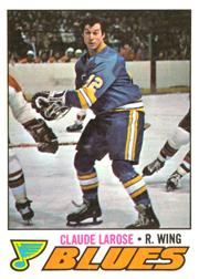 1977-78 O-Pee-Chee #167 Claude Larose