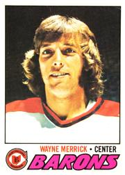 1977-78 O-Pee-Chee #176 Wayne Merrick