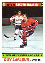1977-78 O-Pee-Chee #218 Guy Lafleur RB