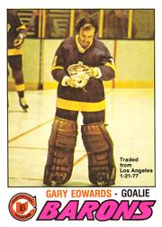 1977-78 O-Pee-Chee #345 Gary Edwards