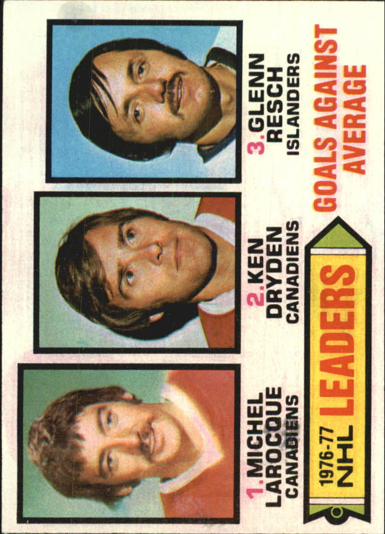 1977-78 Topps #6 Goals Against/Average Leaders/Michel Larocque/Ken Dryden/Glenn Resch