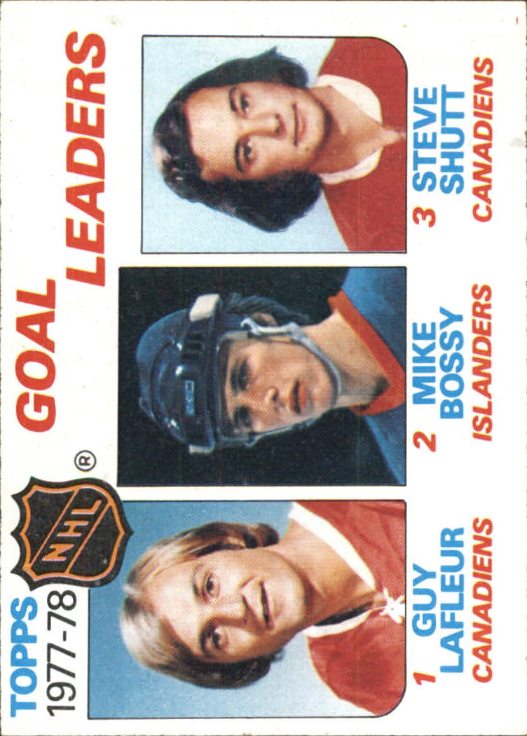 1978-79 Topps #63 Goal Leaders/Guy Lafleur/Mike Bossy/Steve Shutt