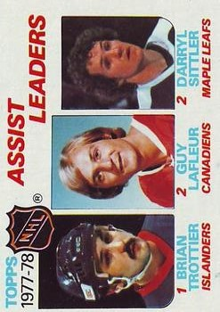 1978-79 Topps #64 Assist Leaders/Bryan Trottier/Guy Lafleur/Darryl Sittler