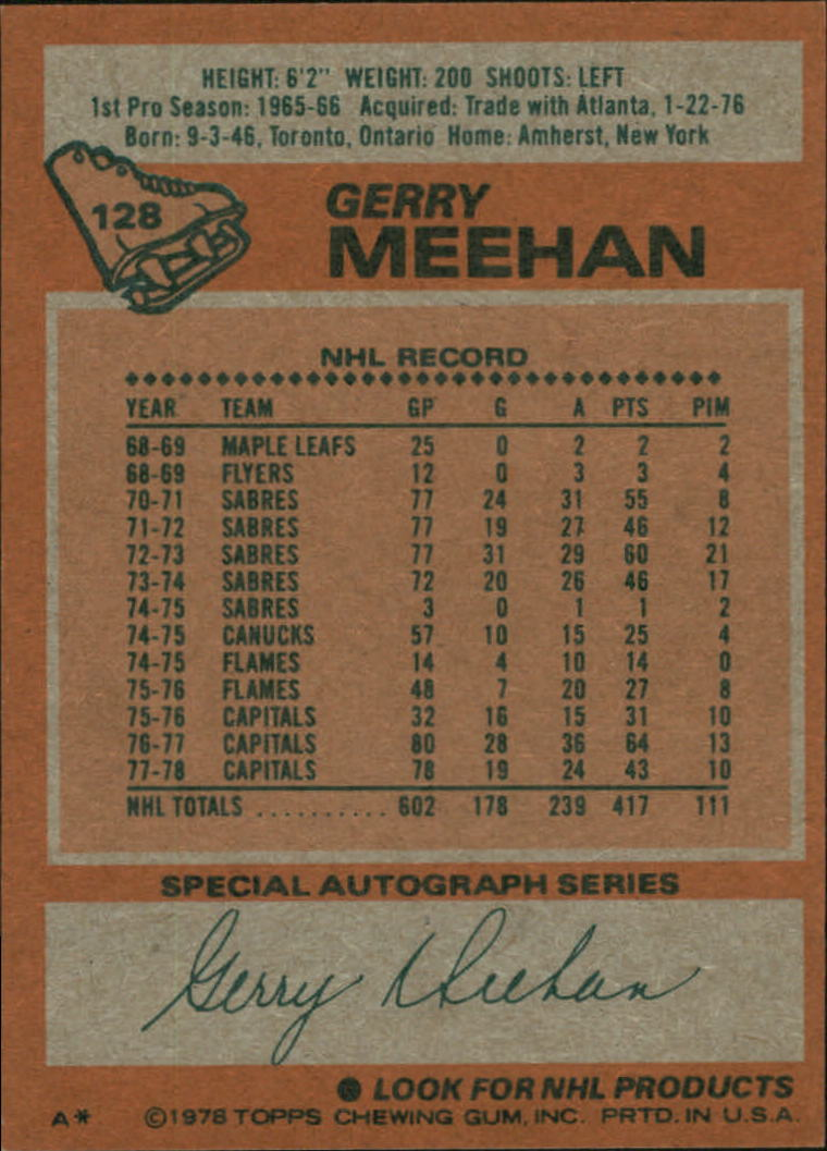 1978-79 Topps #128 Gerry Meehan