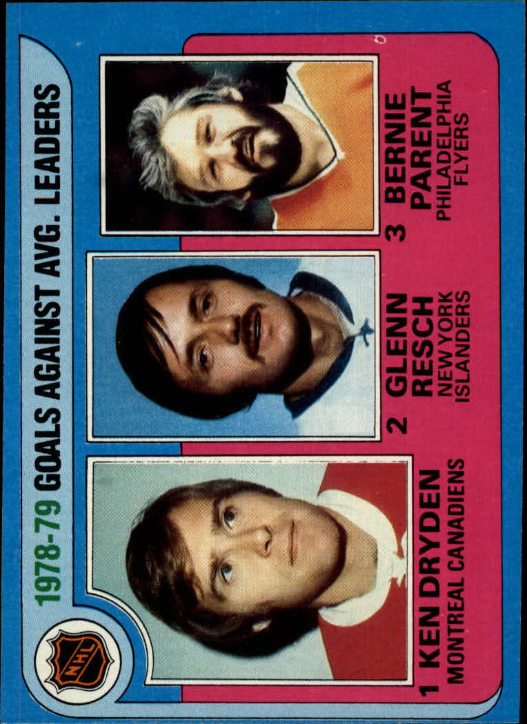 1979-80 Topps #6 Goals Against/Average Leaders/Ken Dryden/Glenn Resch/Bernie Parent