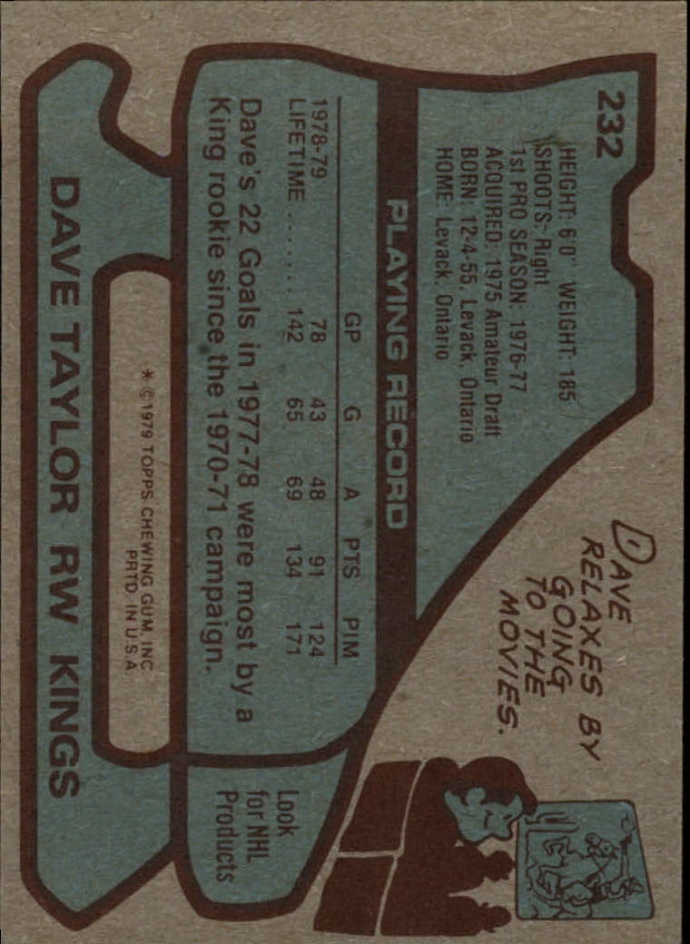 1979-80 Topps #232 Dave Taylor