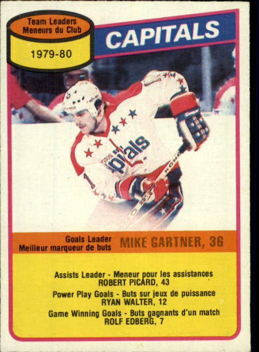 1980-81 O-Pee-Chee #49 Mike Gartner TL