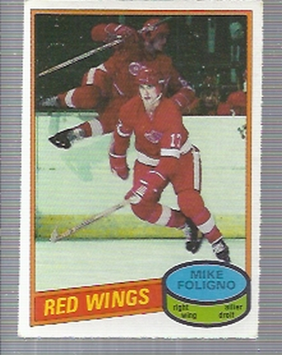 1980-81 O-Pee-Chee #187 Mike Foligno RC