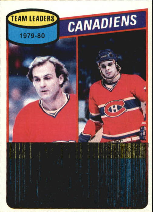 1980-81 Topps #216 Guy Lafleur TL/Pierre Larouche/Canadiens Scoring Leaders/(checklist back)