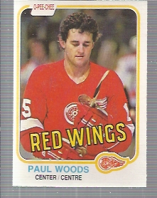 1981-82 O-Pee-Chee #104 Paul Woods