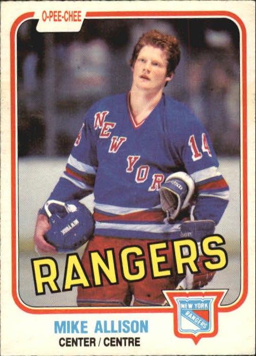 1981-82 O-Pee-Chee #221 Mike Allison RC