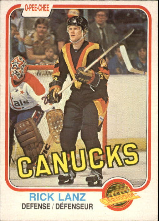 1981-82 O-Pee-Chee #338 Rick Lanz RC UER/(Thomas Gradin pictured)