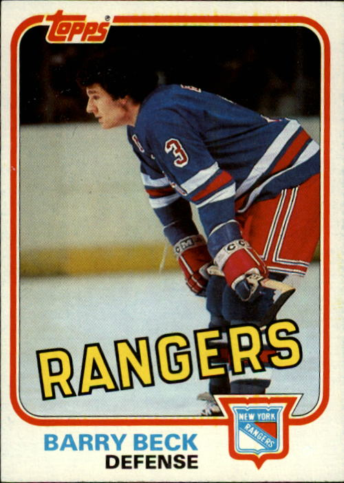 1981-82 Topps #3 Barry Beck
