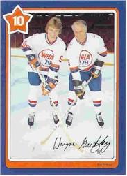 1982-83 Neilson's Gretzky #10 Choosing a Stick/(with Gordie Howe)