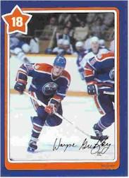 1982-83 Neilson's Gretzky #18 Backward Skating