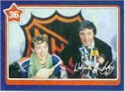 1982-83 Neilson's Gretzky #36 Backchecking/(with Phil Esposito)