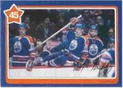 1982-83 Neilson's Gretzky #45 Toe Touches/(with Mark Messier)