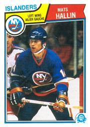 1983-84 O-Pee-Chee #8 Mats Hallin RC