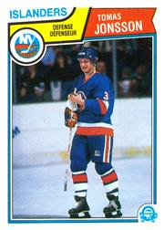 1983-84 O-Pee-Chee #9 Tomas Jonsson