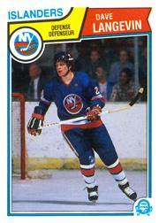 1983-84 O-Pee-Chee #11 Dave Langevin