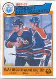 1983-84 O-Pee-Chee #23 Mark Messier/Wayne Gretzky HL front image